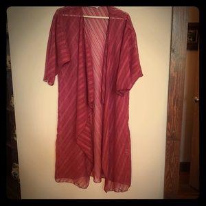 Sheer Wine Kimono